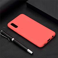 Чехол Soft Touch для Vivo Y1S силикон бампер красный