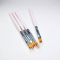 Кисти для дизайна ногтей (омбре,градиента) набор 4шт