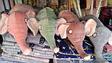 Подушка - игрушка плед 3 в 1 Слоник, фото 2