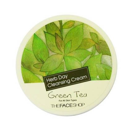 Крем для снятия макияжа The Face Shop Herb Day Cleansing Cream Green Tea , фото 2