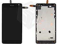 Дисплей + сенсор (touchscreen) для Microsoft (Nokia) Lumia 535 Dual SIM, с рамкой, оригинал, #CT2S1973FPC-A1-E