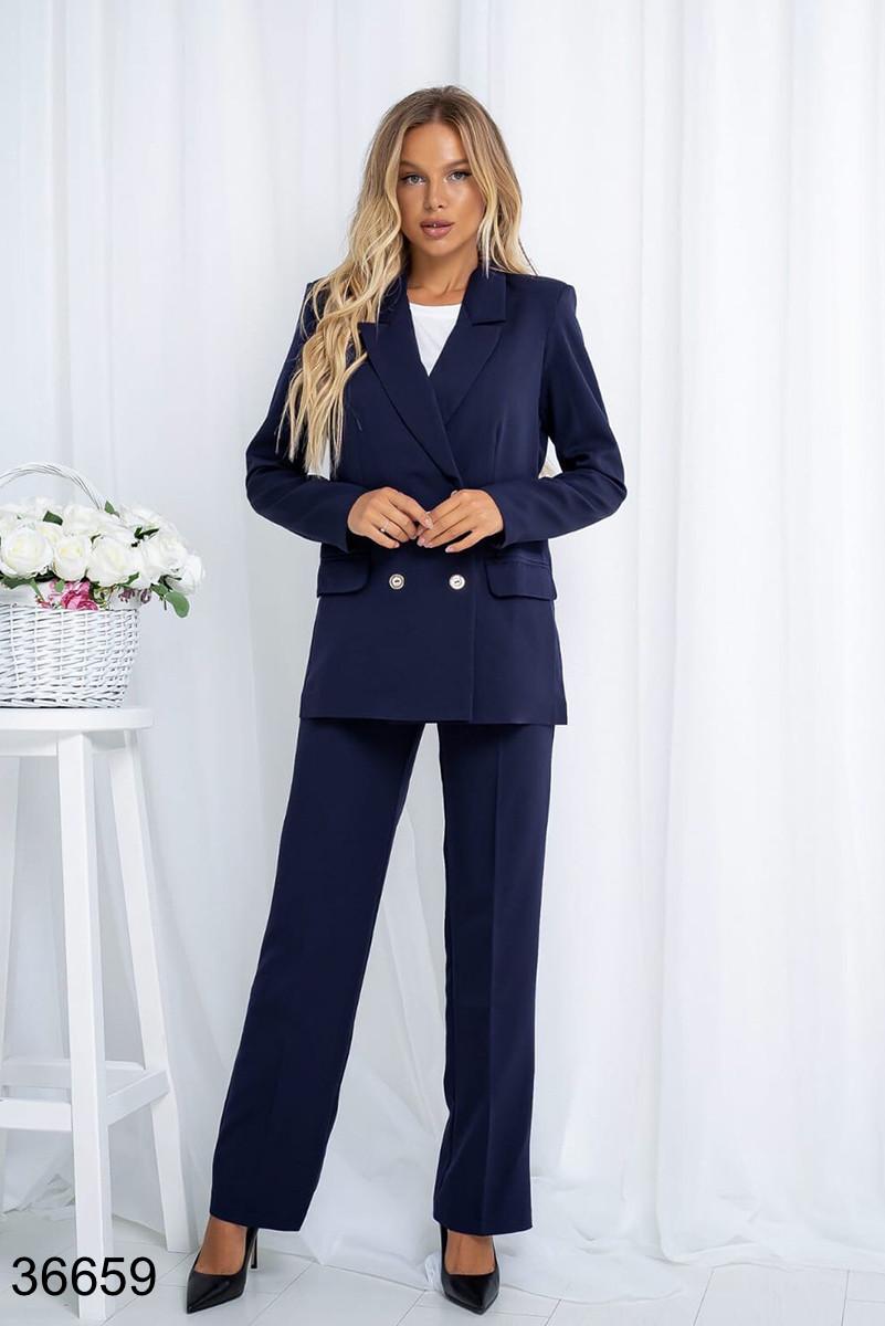 Стильный классический костюм брюки с пиджаком р. 44, 46, 48, 50