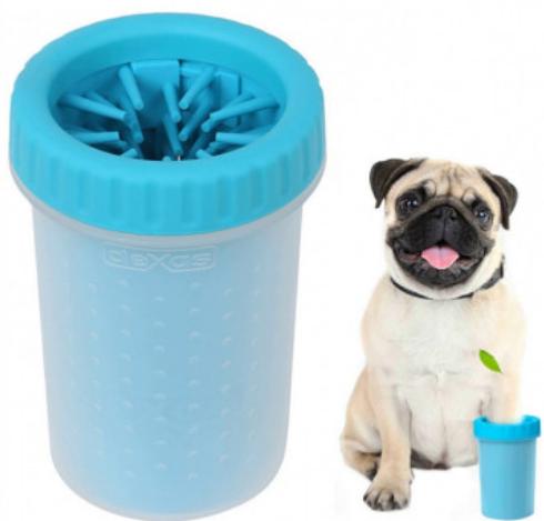Лапомойка для собак и кошек стакан для мытья лап животных 15 см / 300 мл