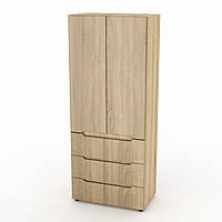 Шкаф книжный МС-22 МДФ дуб сонома
