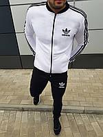 Спортивный костюм мужской Adidas Адидас черно-белый | осенний весенний демисезонный | ЛЮКС