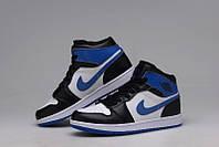 Баскетбольные кроссовки Nike Air Jordan 1 black-blue