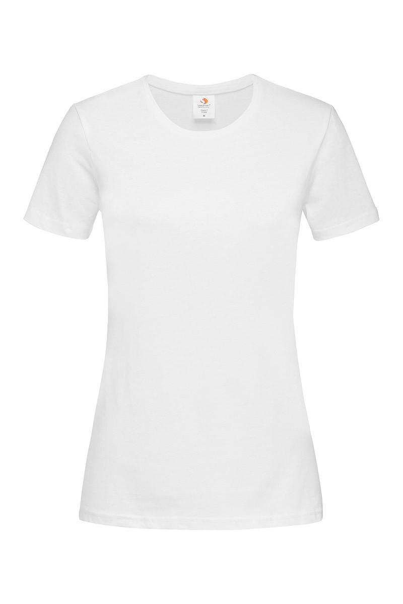 Женская футболка однотонная белая 2600-30