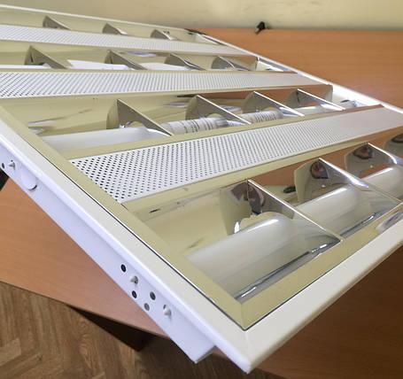 Светильник растровый светодиодный  LED-SH-600-4*8R 6400K  растр. встр (595*595) , фото 2