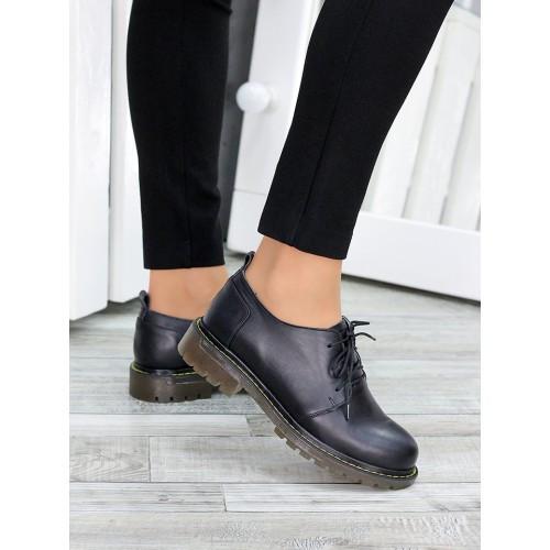 Туфли оксфорды черная натуральная кожа