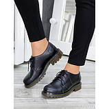 Туфли оксфорды черная натуральная кожа, фото 3