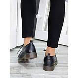 Туфли оксфорды черная натуральная кожа, фото 2