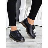 Туфли оксфорды черная натуральная кожа, фото 4