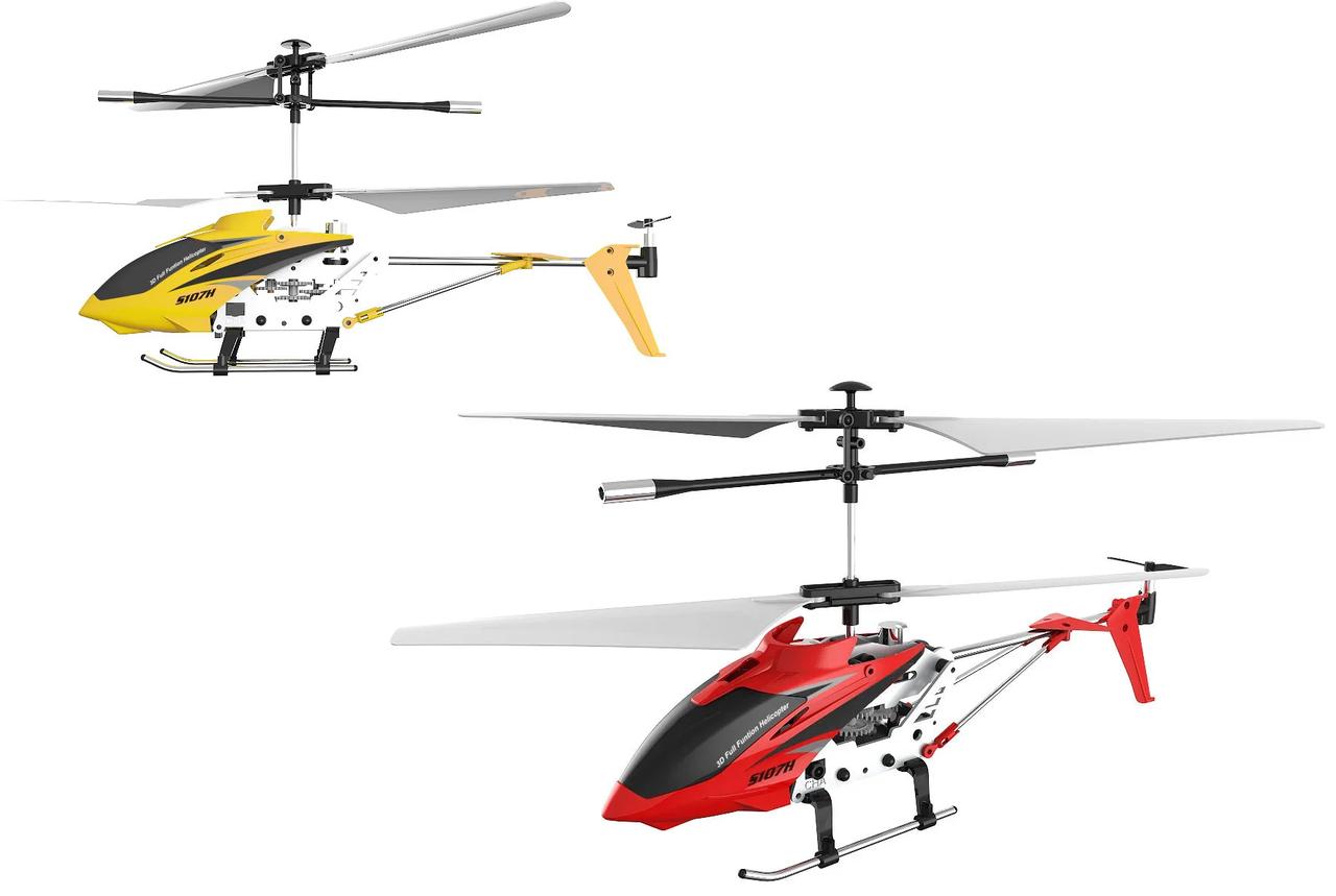 Вертолёт Syma с 2,4 Ггц управлением, светом, барометром и гироскопом 22 см 2 цвета (S107H)