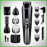 Триммер универсальный Kemei (KM-600) 11в1 машинка для стрижки волос бритья бороды для носа и ушей