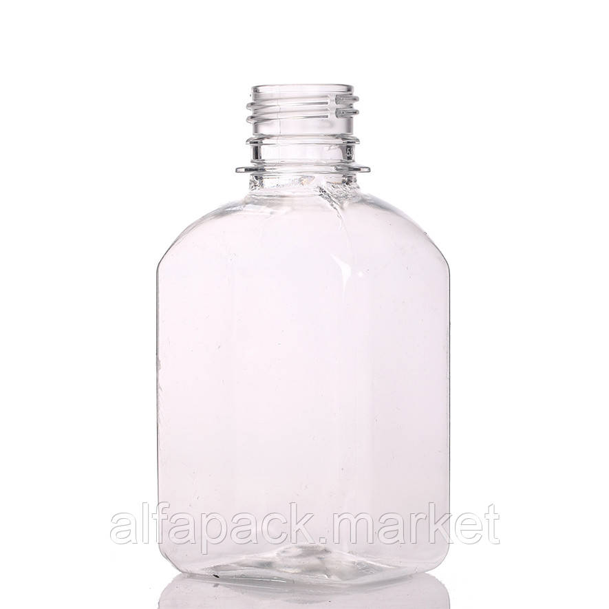 Бутылка пластиковая 200 мл, квадрат (252 шт в упаковке) 061100025
