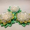 Магнит Белая Роза с золотом, фото 3