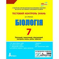 Д. В. Леонтьєв. Тестовий контроль знань 7 клас. Біологія