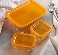 Набор контейнеров Keep'N Box: 0,36 л; 0,37 л; 1,9 л, цвет оранжевый, фото 1