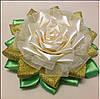 Магнит Белая Роза с золотом, фото 2