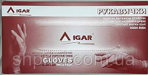 Перчатки латексные смотровые нестерильные  неопудренные HIGH RISK / размер L/ Igar