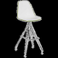 Стул барный Tilia Eos-X ножки металлические хромированные хаки - белая слоновая кость, фото 1