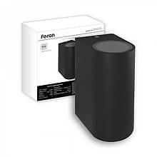 Светильник бра Feron DH015 GU-10*2 IP54 (черный, серый)