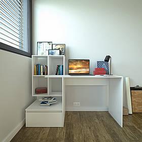 Стол письменный с полками и ящиком, компьютерный стол S-5
