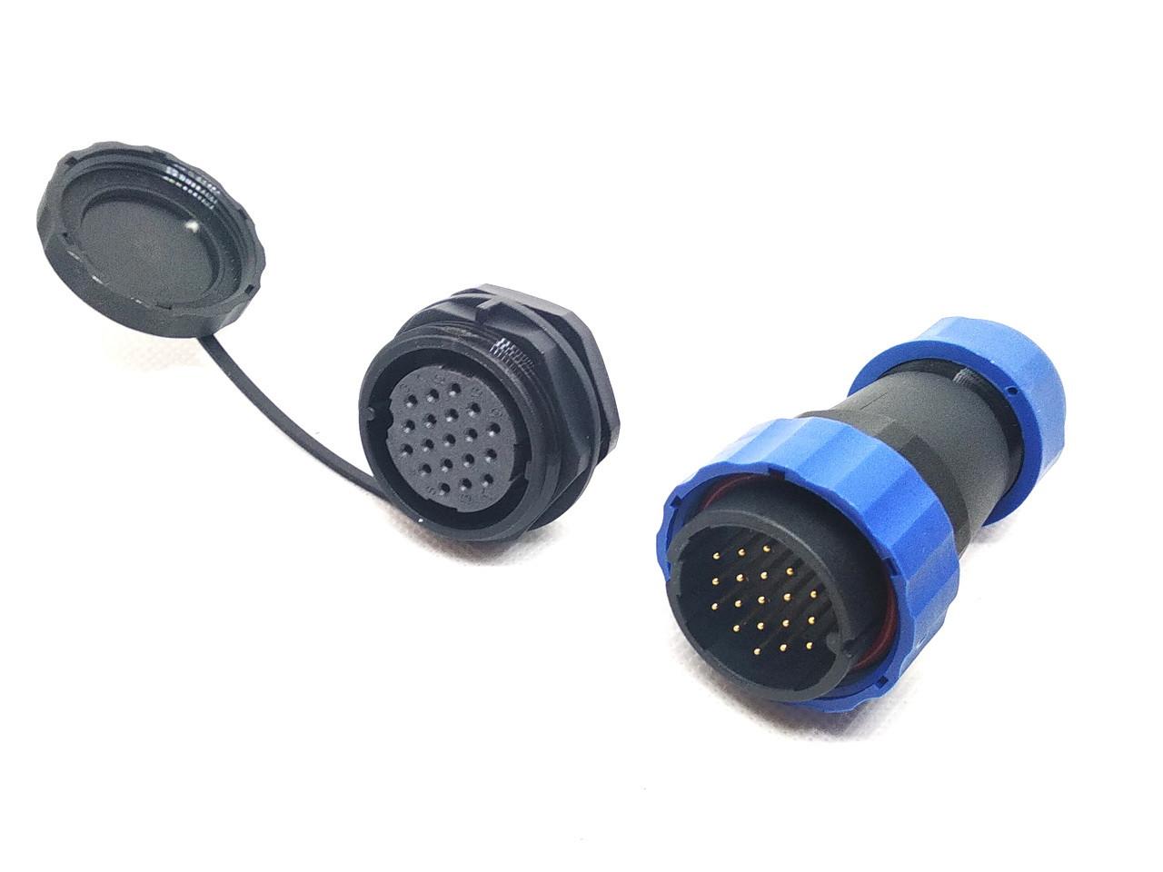 Герметичный разъем SP28 с защитой IP68 19 контактов (19pin)