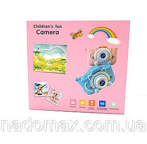 Детский фотоаппарат в чехле+карта памяти 16Gb в подарок, фото 2