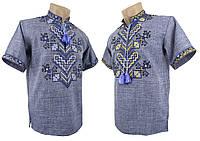 Подростковая вышиванка с коротким рукавом с джинсу, фото 1