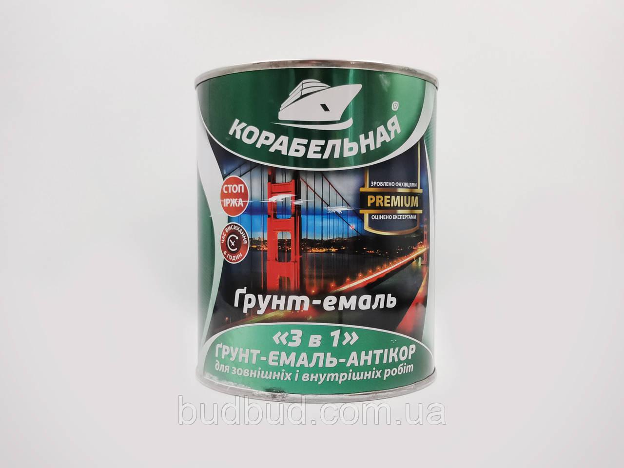 """Грунт-эмаль """"3 в 1"""" зеленый Polycolor (Поликолор) Корабельная 50 кг"""