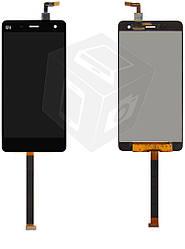 Дисплейный модуль (дисплей + сенсор) для Xiaomi Mi4, Mi4x, черный, оригинал