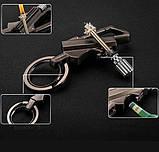 Огниво кресало вечная спичка-зажигалка брелок, карабин, открывашка Черный (vol-718), фото 4
