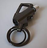Огниво кресало вечная спичка-зажигалка брелок, карабин, открывашка Черный (vol-718), фото 5
