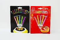"""Набор свечей для торта """"Цветное пламя"""" 5цв., 5,5*0,5см, блист., 5шт/этик. (6331)"""