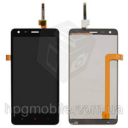 Дисплей для Xiaomi Redmi 2, модуль в сборе (экран и сенсор), черный, оригинал