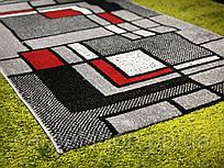 Ковровая дорожка Серая с красным, на отрез Cappuccino, Karat Carpet: 100 см