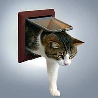 Trixie (Трикси) 4-Way Cat Flap with Tunnel Дверца для кошки 4 позиции с туннелем 21 × 21 см