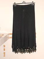 Роскошная черная юбка с кружевами