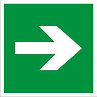 Знак направление движенния к эвакуационному выходу