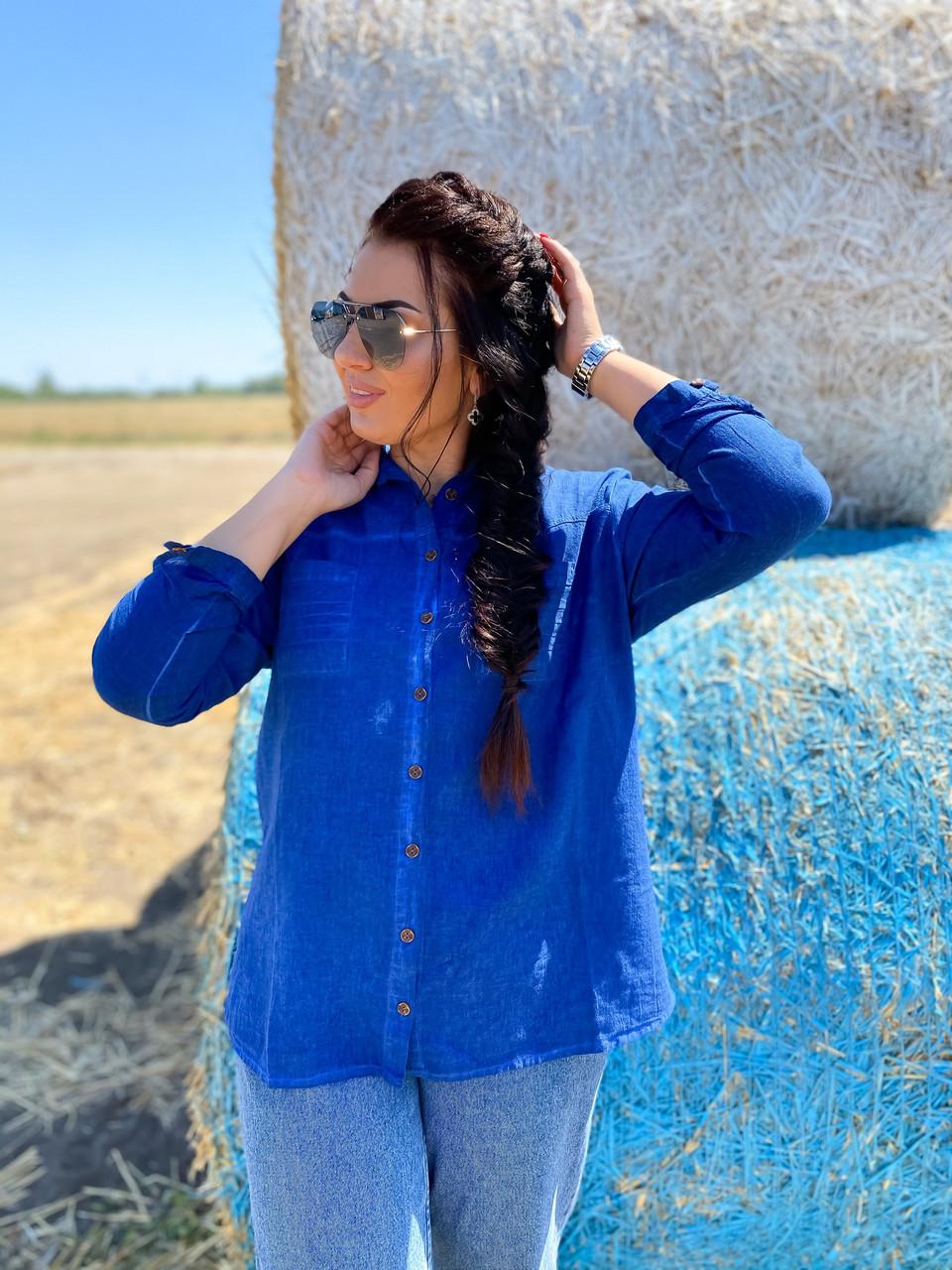 Коттоновая рубашка с карманами