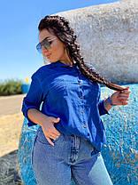 Коттоновая рубашка с карманами, фото 2