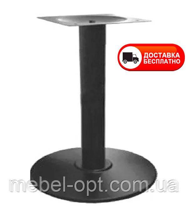 База опора Ока к столу высота 72 см черная диаметр 43 см, для бара, кафе, ресторана