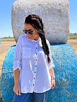 Коттоновая рубашка с карманами, фото 3