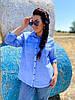 Коттоновая рубашка с карманами, фото 6