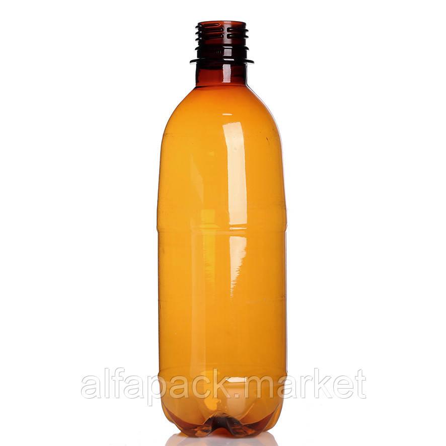 Бутылка пластиковая 500 мл, коричневая (216 шт в упаковке) 061100034