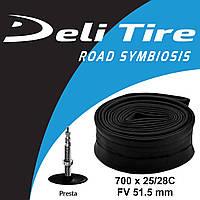 Камера Deli Tire 700 x 25/28C FV 51.5 мм, безрезьбовой ниппель
