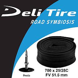 Камера Deli Tire 700 x 25/28C FV 51.5 мм