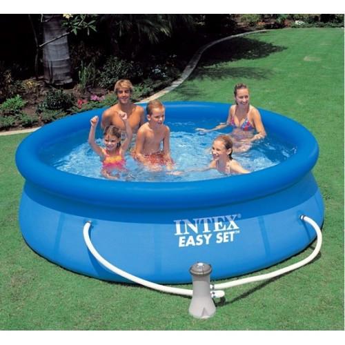 Надувний басейн Intex 28112 244х76 + насос фільтр