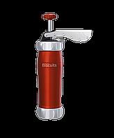 Кондитерский пресс-шприц Marcato Biscuits Red красный